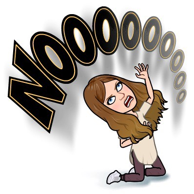 "A Bitmoji of Stacy Mojica saying ""Nooooooooo!"""