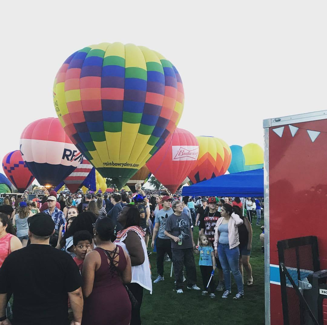 Hot air balloons at Labor Day Liftoff 2017.