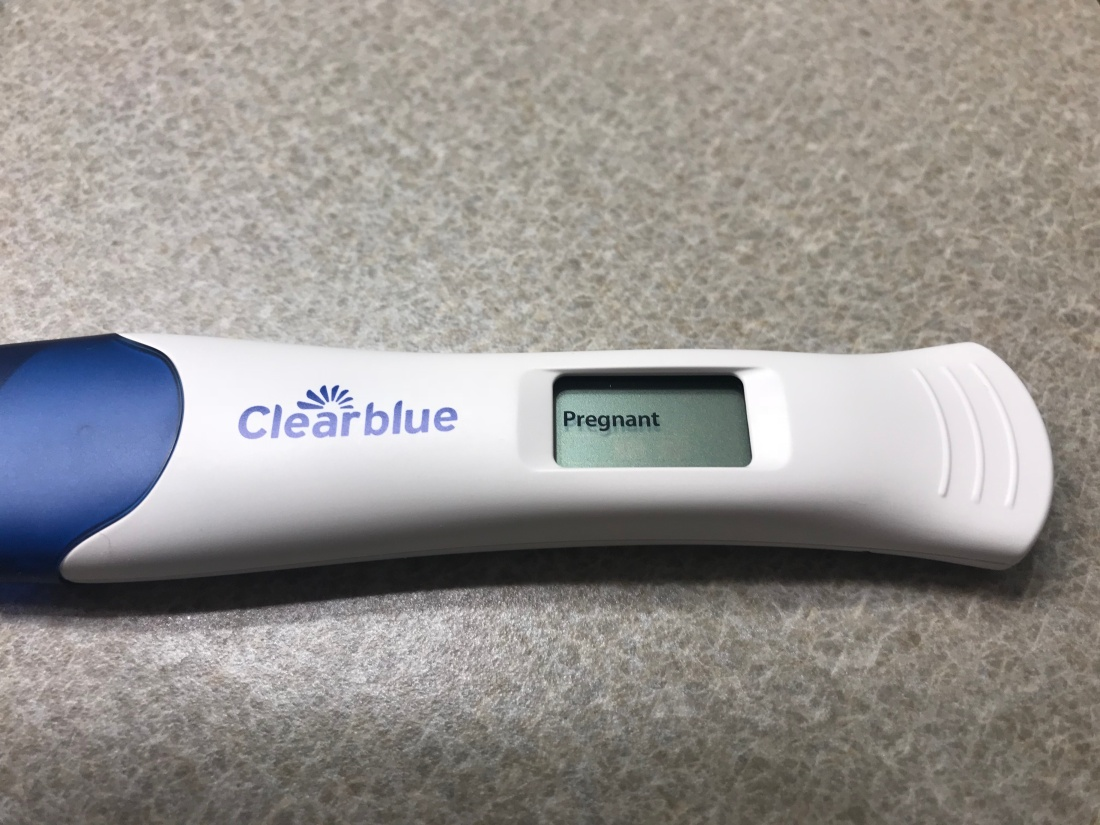 a Clearblue pregnancy test reads