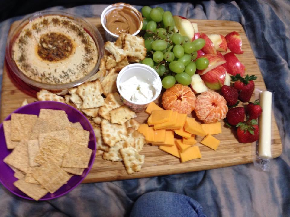 snack tray night