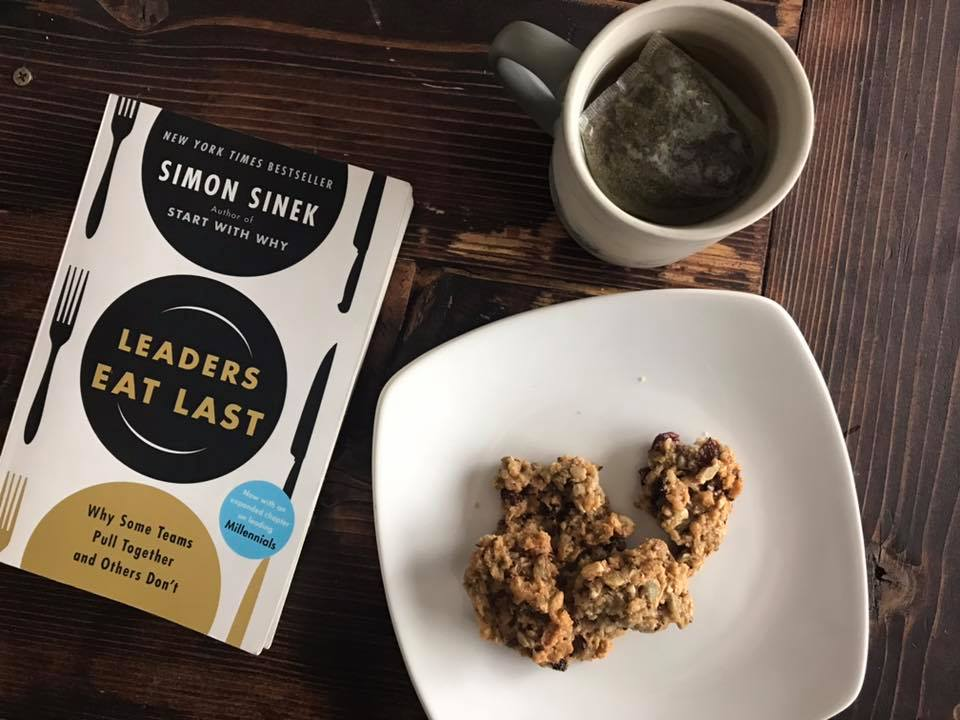 yummy treat, tea, and book