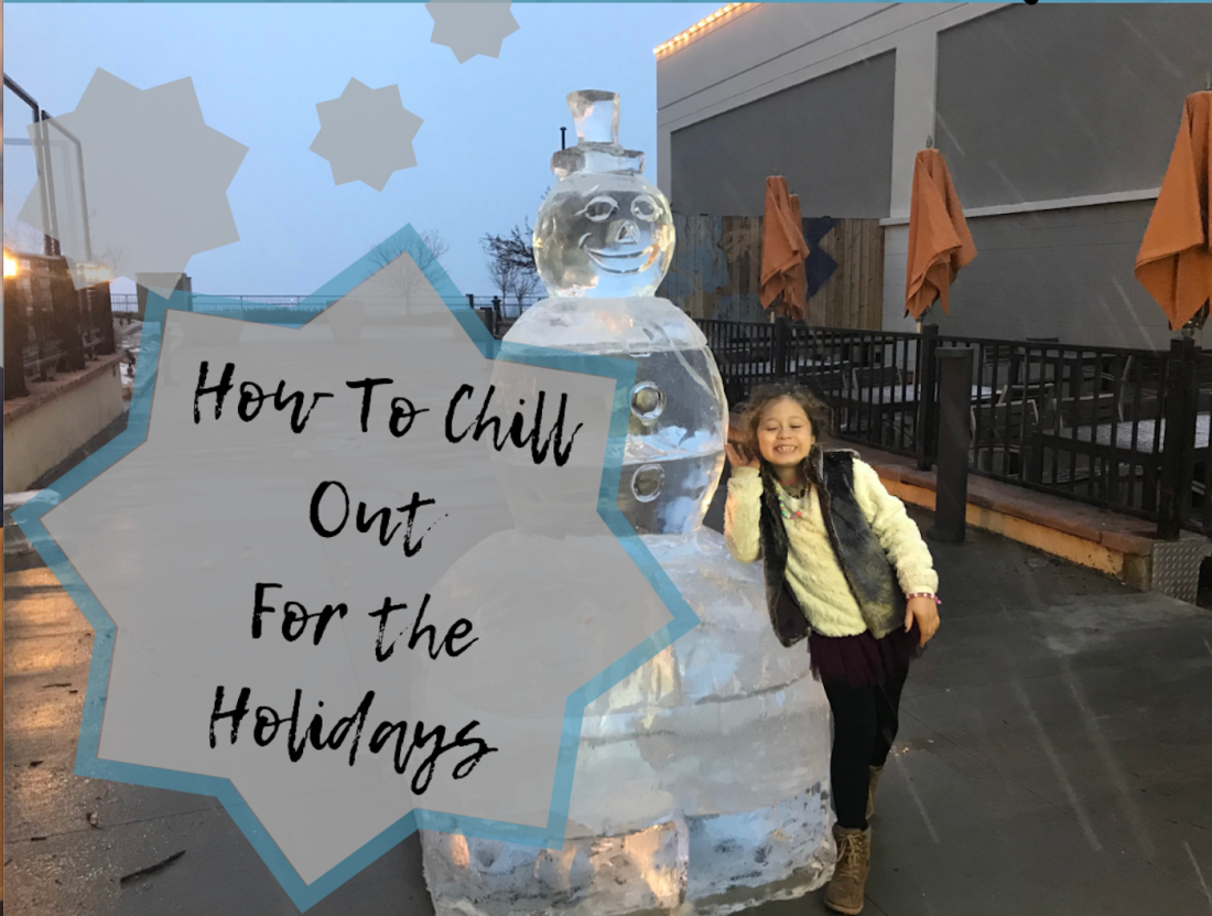 How to Chill Out for the Holidays + ice sculpture of snowman